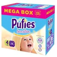 Scutece Pufies Baby Sensitive Maxi Mega Box 4, 7-14 Kg, 135 buc