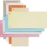 Separatoare biblioraft 105 x 240 mm, 190g/mp, 100/set, ELBA - rosu