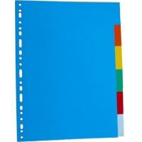 Separatoare carton color 180g/mp, 12/set, Optima