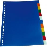 Separatoare plastic color 12cul/set, Optima