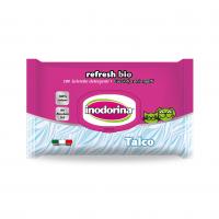 Servetele Inodorina Refresh Bio Talcum, 100 Buc