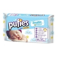 Servetele Umede Pufies Sensitive, 64 buc