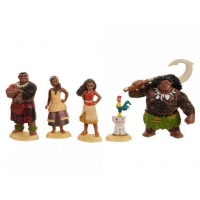 Set 5 Figurine Disney, Moana Vaiana