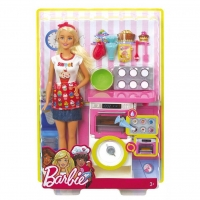 Set Barbie Bakery Chef Doll And Playset