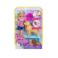 Set Barbie Gama Family Barbie si Catelusii