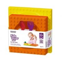 Set Hranire Placematix Pentru Copii, cu Farfurie si Bol, Orange/Galben