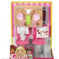 Set Barbie Mobila Casa Si Accesorii Bucatarie