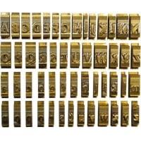 Set litere cu font Romanesc, 9 mm, 34 litere/set, OPUS