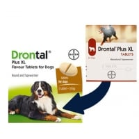 Drontal Plus XL, 2 tablete