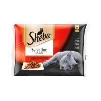 Sheba Cuisine Multivarietati Plicuri 4 x 85 g