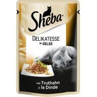 Sheba Plic cu Curcan in Jeleu, 85 g