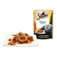 Sheba Plic cu Pui & Vita in Sos, 85 g
