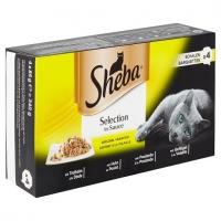 Sheba Tray cu Pasare in Sos, 4 x 85 g