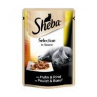Pachet Sheba Plic cu Pui & Vita in Sos, 24 x 85 g