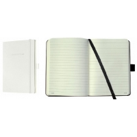 Caiet lux cu elastic, coperti soft, A5(135 x 210mm), 97 file, Conceptum - classic alb - dictando