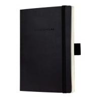 Caiet lux cu elastic, coperti soft, A6(93 x 140mm), 97 file, Conceptum - classic negru - velin