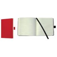 Caiet lux cu elastic, coperti soft, A6(93 x 140mm), 97 file, Conceptum - classic rosu - dictando