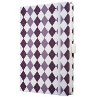 Caiet lux cu elastic, coperti rigide, A5(130 x 200mm), 97 file, Conceptum - smart square design - di