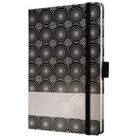 Caiet lux cu elastic, coperti rigide, A6(95 x 140mm), 97 file, Conceptum -elegant twist design-dicta