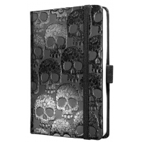 Caiet lux cu elastic, coperti rigide, A6(95 x 140mm), 97 file, Conceptum -shiny skull design-dictand