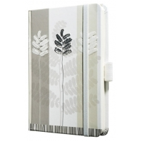 Caiet lux cu elastic, coperti rigide, A6(95 x 140mm), 97 file, Conceptum - pastel leaves design - ve