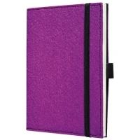Caiet lux cu elastic, coperti soft, A6(101 x 148mm), 97 file, Conceptum - mystic violet - velin