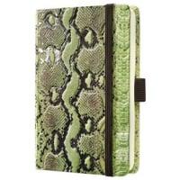 Caiet lux cu elastic, coperti imitatie crocodil, A6(95 x 150mm), 97 file, Conceptum-verde-matematica