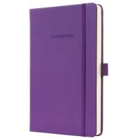 Caiet lux cu elastic, coperti softwave, A5(135 x 203mm), 97 file, Conceptum -Magic purple-matematica