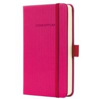 Caiet lux cu elastic, coperti softwave, A6(95 x 150mm), 97 file, Conceptum - Deep pink - matematica