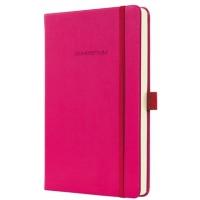 Caiet lux cu elastic, coperti softwave, A5(135 x 203mm), 97 file, Conceptum - Deep pink - matematica