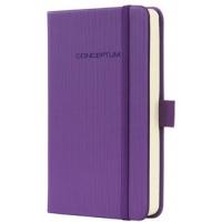 Caiet lux cu elastic, coperti softwave, A6(95 x 150mm), 97 file, Conceptum - Magic purple - dictando