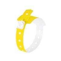 Bratara PE pentru evenimente, 120 buc/set, SIGEL - galben