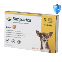 Simparica 5 mg, 1.3-2.5 kg, 3 tablete