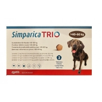SIMPARICA Trio, comprimate masticabile antiparazitare, câini 40-60kg, 72 mg, 3 comprimate