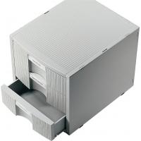 Suport modular pentru birou, 3 sertare pentru documente, HELIT Plano Plus - gri deschis