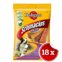 Pachet Pedigree Schmackos 4 Feluri Carne 18x104 g