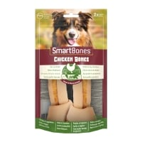 SMARTBONES Classics Chicken Bones Medium, recompense câini, Oase aromate Pui, 2buc