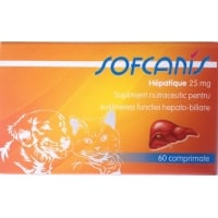 Sofcanis Hepatique 25 mg x 60 comprimate