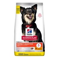HILL'S Science Plan Small&Mini Adult, Pui cu Orez Brun, pachet economic hrană uscată câini, sensibilități digestive, 6kg x 2