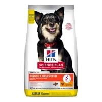 HILL'S Science Plan Small&Mini Adult, Pui cu Orez Brun, hrană uscată câini, sensibilități digestive, 1.5kg