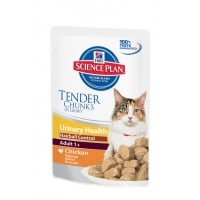 Pachet 5 Plicuri Hill's SP Feline Urinary & Hairball cu Pui, 85 g