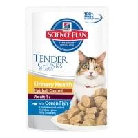 Pachet 5 Plicuri Hill's SP Feline Urinary & Hairball cu Peste Oceanic 85 g