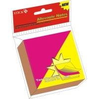 Stick notes 76 x  76 mm, 100 file, HOPAX - bicolor - alternativ