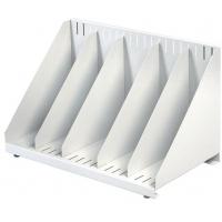 Suport vertical metalic pentru cataloage cu 4 separatoare, VEPA BINS - gri