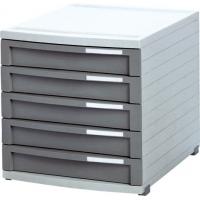 Suport plastic modular cu 5 sertare pentru documente, HAN - Contur