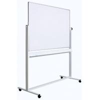 Tabla alba magnetica, dubla fata, rotativa, 100 x 200 cm, pe stand mobil, profil aluminiu, Optima