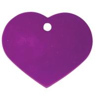 Medalion Tag Inima Violet S