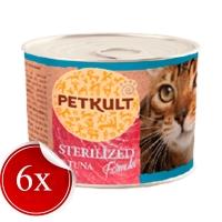 Pachet Petkult Sterilised cu Ton, 6x185 g
