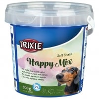Trixie Recompense Happy Mix pentru Catei cu Pui, Miel si Somon, 500 g