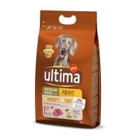 ULTIMA Dog Medium & Maxi Adult, Vită, hrană uscată câini, 3kg